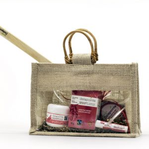 Organic back scratcher gift set with reusable bag