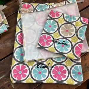 Fruits & vegetable bags, model Round pastel pattern